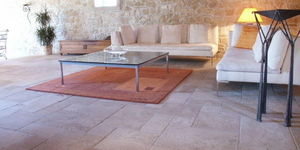 Antiqued French limestone Chanceaux