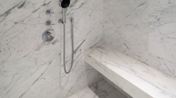 italian marble statuario marble shower enclosure with marble shower bench