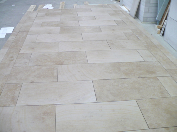 Ampilly french limestone paving