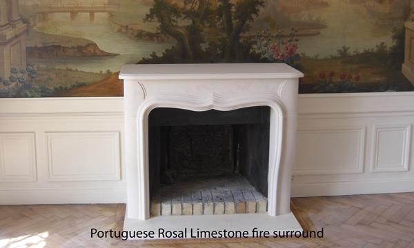 rosal limestone fireplace resized 600