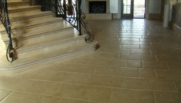 honed and pillowed edge french limestone