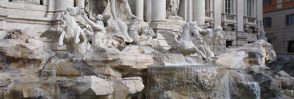 Italian Carrara Marble - Trevi Fountains in Rome