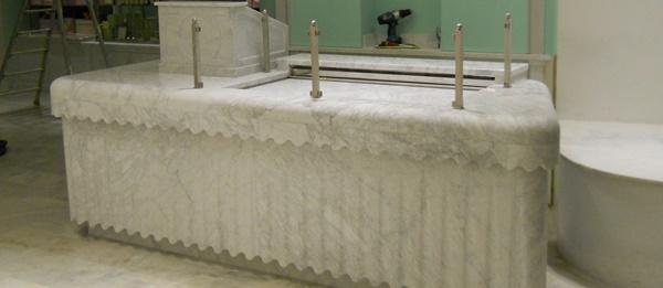 Italian Marble Carrara bespoke counter top
