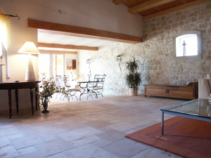 French Limestone flooring - Chanceaux antiqued tiles from Burgundy