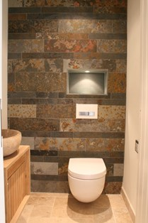 Using stone in small spaces