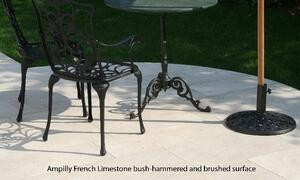 French Limestone patio tiles