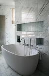 Statuario marble bathroom tiling