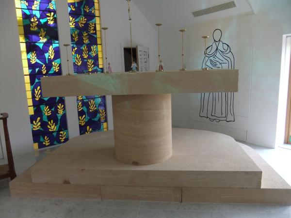 limestone altar before repair resized 600