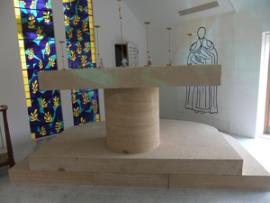 French Limestone - altar made from St Maximin French Limestone