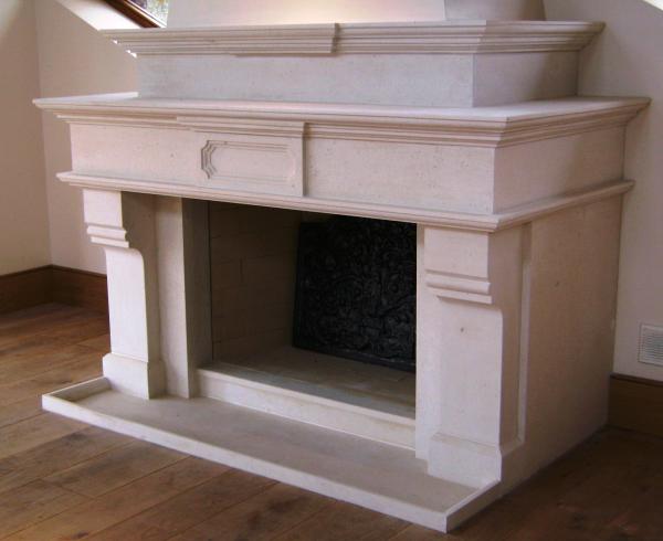 Portuguese Limestone Bespoke Fireplace