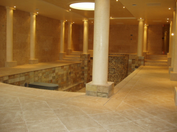 Vallangis French Limestone pool surround