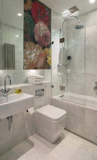 carrara Italian marble bathroom