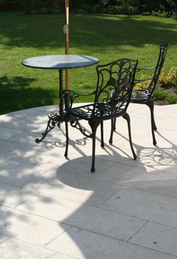 bushhammered limestone patio resized 600