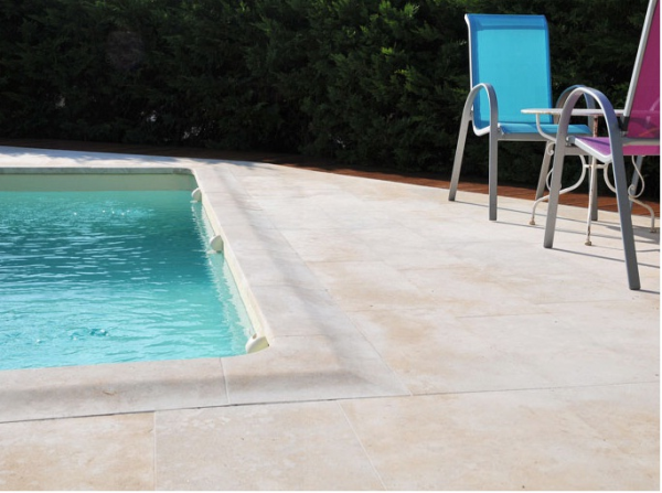 Rocheville sawn French limestone flagstones, paving, slabs, tiles