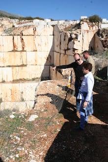 Spanish limestone visit Denise2