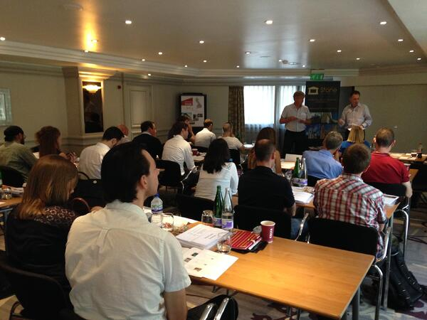 Presenting the Stone Installation training course to the Stone Federation members