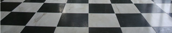 black and white marble floor tiles - carrara and nero marquina