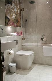 Italian Carrara marble bathroom sealerd with Fila mid res