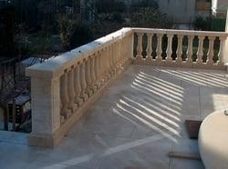 Aubigny French Limestone balustrade and paving