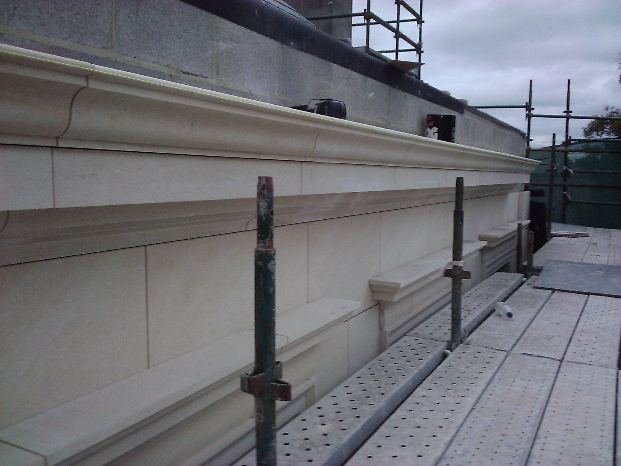 Lavoux French limestone - cornice and cladding