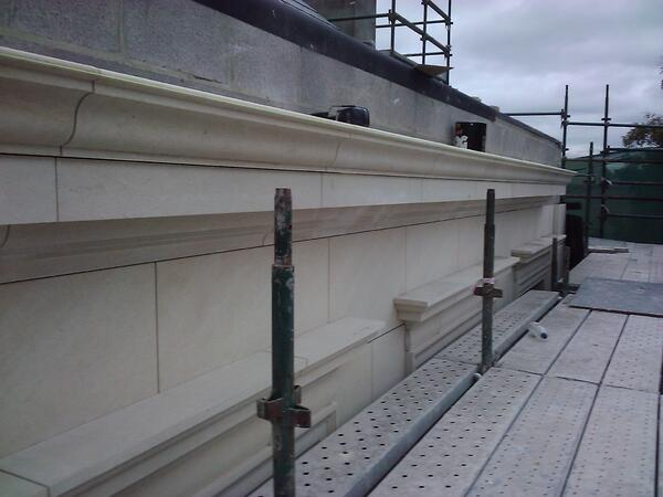 Lavoux French limestone - cornice and cladding