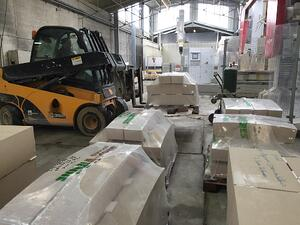 French limestone quarry factory