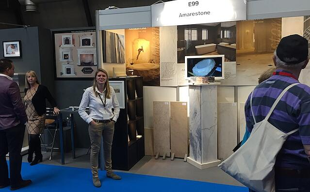 French Limestone display at Homebuilding Show NEC