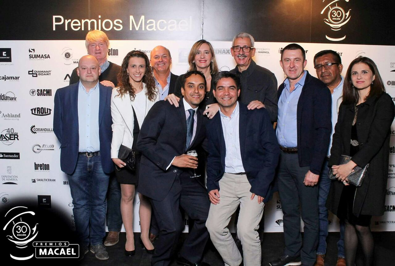 Trade delegates to the Spanish Marble Macael Award Ceremony