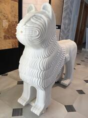 New copy of a Spanish Marble Blanco Macael Alhambra lion