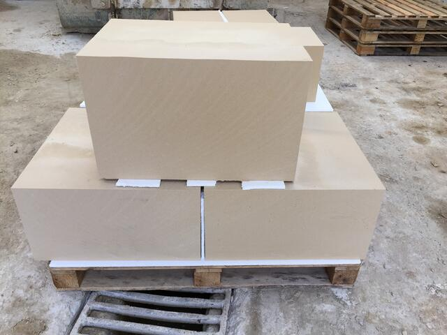 New cut to size blocks of Caen stone - six sides sawn