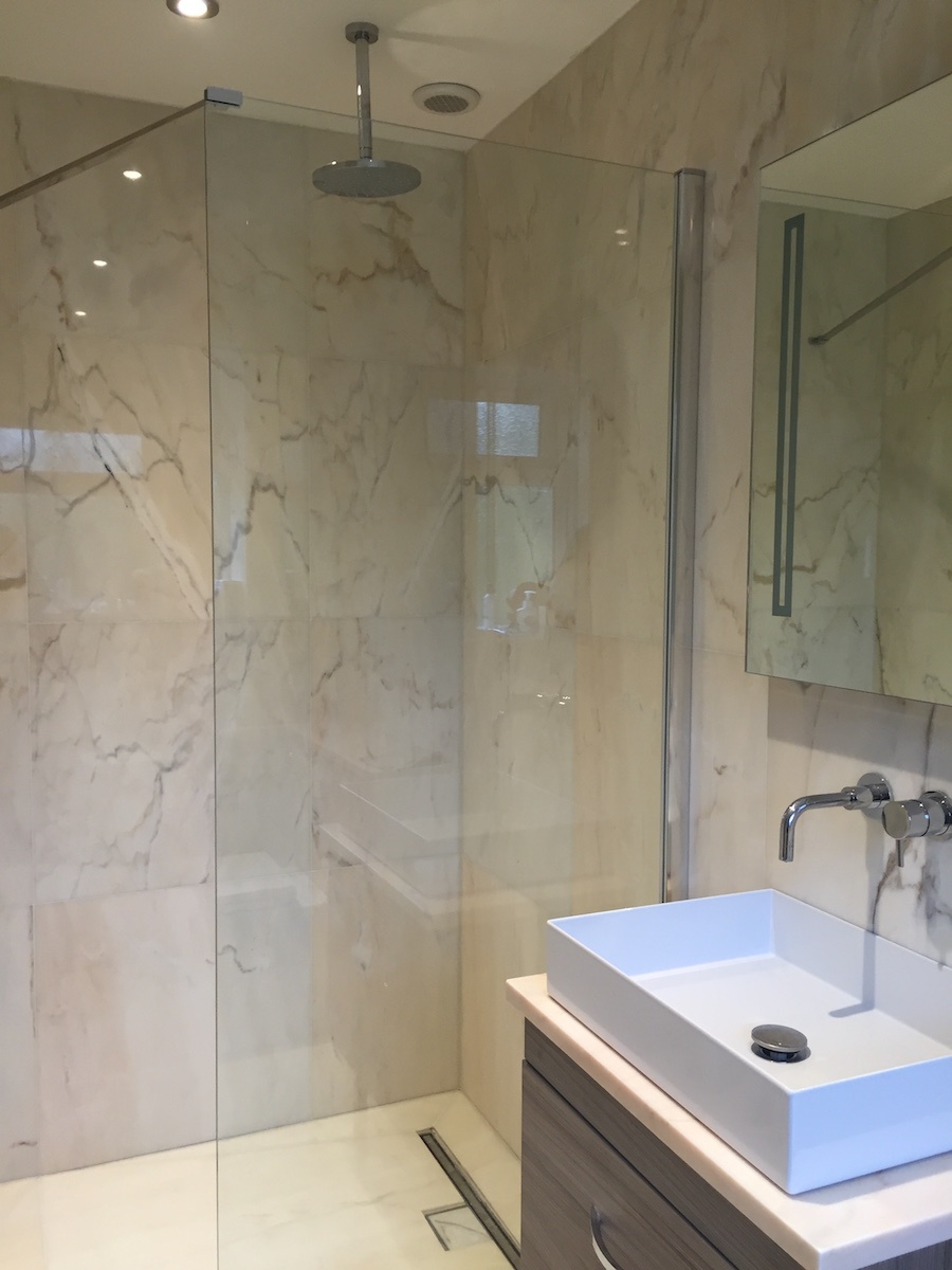 Rosa Aurora Creme Portuguese marble shower room