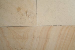 The same limestone can have many variations in colour, veining and fossil content