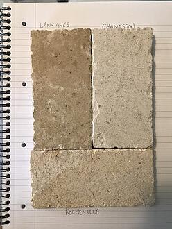 Pierre de Bourgogne - mixed quarries - antiqued finish